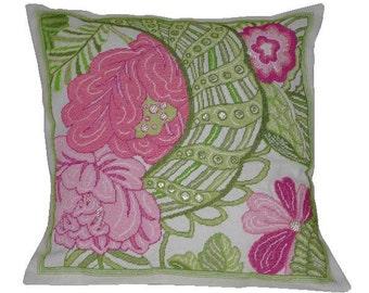 Cross stitch pattern SPRING - cross stitch,needlepoint,embroidery,pink,rose,florals,scandinavian,swedish,diy,pretty,anette eriksson,pattern