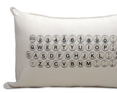 typewriter pillow cover