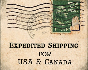 Expedited Shipping for USA and Canada