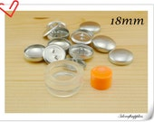 15 sets of 18mm ( 3/4 inch )  Size 30  Self cover buttons with Assembly  tool  fabric cover button kit