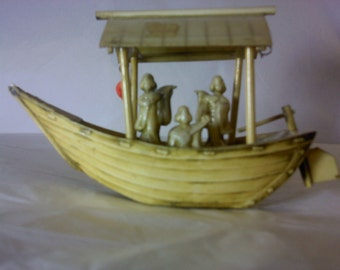 FREE SHIPPING Boat smalls Figurines vintage boats asian figurines (Vault 1)