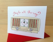 Xmas Jingle Radio - set of 8 Christmas Holiday cards