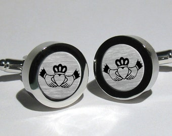Claddagh Jewelry,Personalized Gift,Wedding Gift,Mens Cufflinks,Irish Wedding,Custom Cufflinks,Irish Gifts