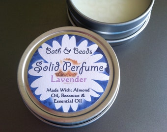 Solid Perfume Lavender Scented All Natural Ingredients