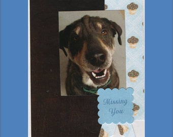 Missing You Friend Card - 1  varieties of Lonely dog Cards - Free Shipping in USA