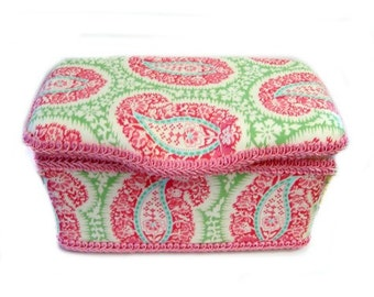 Pink Paisley wipe case Amy Butler wipe case baby Nursery wipes box shabby chic baby gift baby shower gift preppy baby gift pink paisley