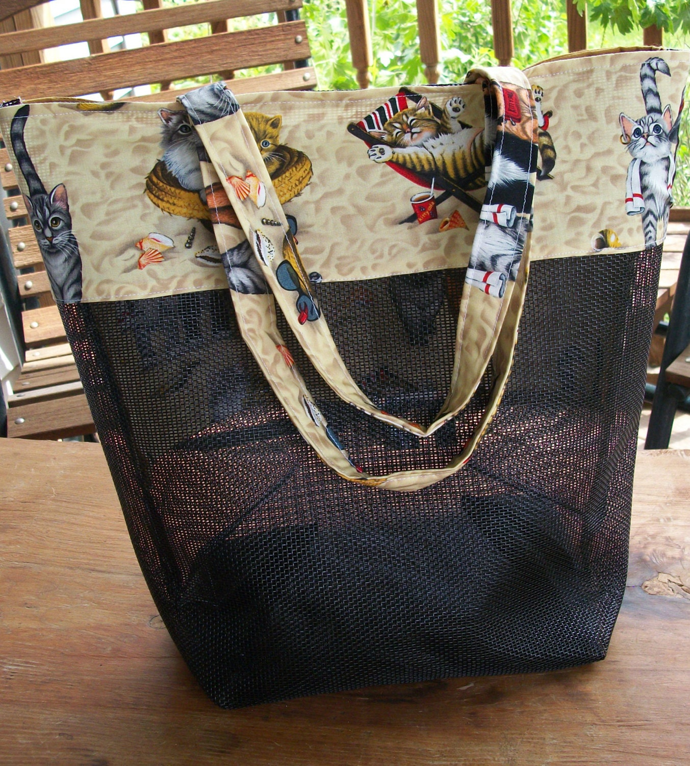 Vinyl Mesh Tote With 4 Pockets Pdf Sewing Pattern