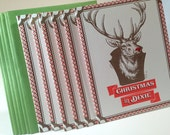 6 Pack Letterpress Christmas in Dixie holiday card