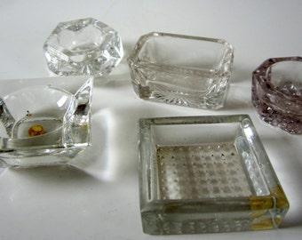 Vintage Crystal Cut Glass Salt Dip Cellar Instant Collection All Original Assorted Lot