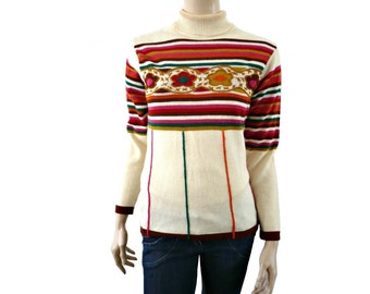 KENZO French Designer Wool Knit Blouse