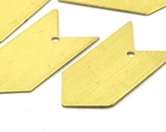 Brass Arrow Charm, 10 Raw Brass Arrow Stamping Charms (15x30mm) B0079