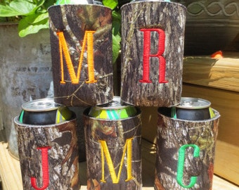 One personalized camo can cozy.  Monogrammed camo cozy.