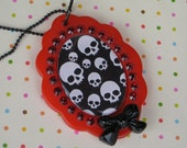 Cute And Creepy Skull Necklace