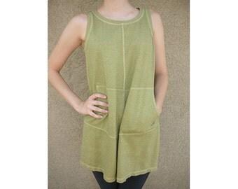 Hemp cotton sleeveless tee tunic