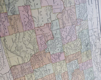 1911 State Map North Dakota - Vintage Antique Map Great for Framing 100 Years Old