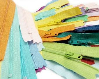 "20pcs Assorted Colors ykk#3 Nylon Coil Zippers Tailor Sewer Crafter's 14 "" Light, Pastel, Muted~COLOR REQUESTS ACCEPTED"