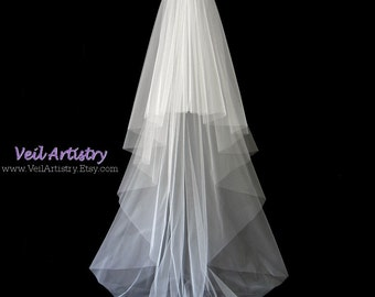 Bridal Veil, Radiance Veil, 2-Tier Veil, Sweep Veil, Cut Edge Veil, Custom Veil, Handcrafted Veil
