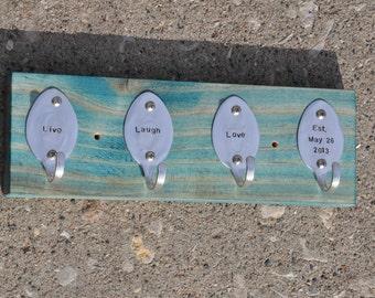 Personalized Rad Spoon Key Rack