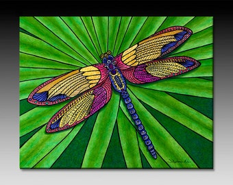 Dragonfly Ceramic Tile Wall Art