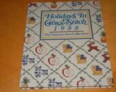 Vanessa-Ann's HOLIDAY In CROSS STITCH 1988 - Vintage Hardback Craft Book - Months, Suppliers, Motifs, Patterns