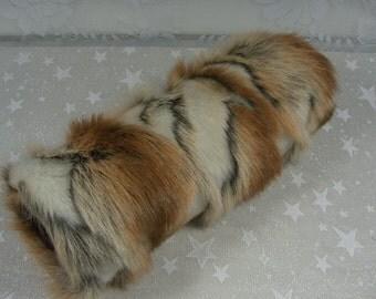 Faux Fur Hand MUFF, Women's Fox Fur Hand Muff, Faux Fur Muff,  Handmuff, Brown Brandy Fox Fur Muff