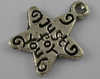 "Star - ""Just for you"" - Set of 20 charms - #S144"