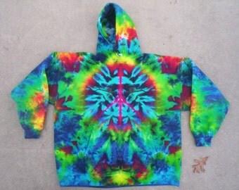 Peace Sign Tie Dye Hoodie Choose Size S - 3X