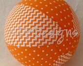 Balloon Ball - ORANGE Chevron and Polka Dot  - Unique Easter Basket TOY