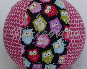 Balloon Ball - Owl and Pink Polka Dot - Great Stocking Stuffer TOY - As seen with Michelle Obama on Parenting.com