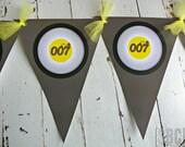 007 Secret Agent Spy Banner...Set of 1 Banner - Select Option