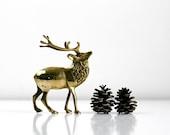 Vintage Brass Reindeer
