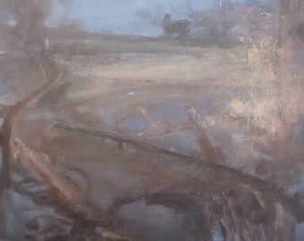 On, original abstract landscape oil painting, print