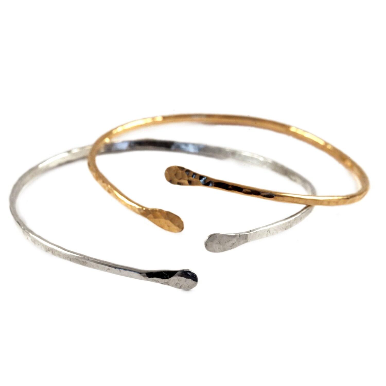 hammered cuff bracelet arm bracelet