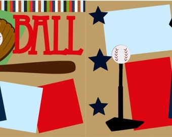 Tball 2-page 12x12 do-it-yourself scrapbook kit