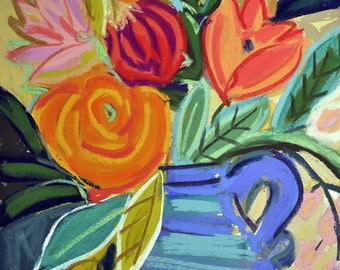 """12""""x12"""" Floral Giclee on Fine Art Paper """"Madeleines Blooms"""""""