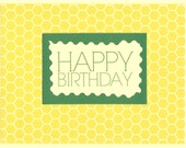 Honeycomb Happy Birthday Cards - Set of TEN