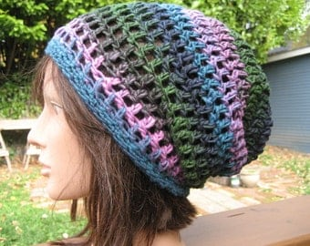 Multicolor Crocheted Slouch Hat 140/13