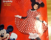 Minne mouse costume sewing pattern uncut size misses 8-18