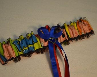 Handmade wedding garter toss FAMILY GUY wedding garter