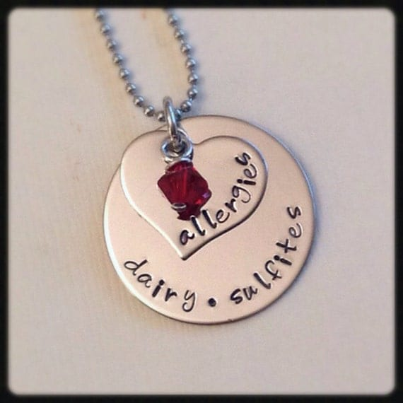 alert allergy necklace stainless by