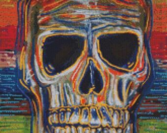 Skull Cross Stitch Kit 'Color My Soul By Laura Barbosa - NeedleCraft Kit