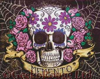 Modern Day Of The Dead - Memento Color -  Cross Stitch Kit By Shayne of the Dead