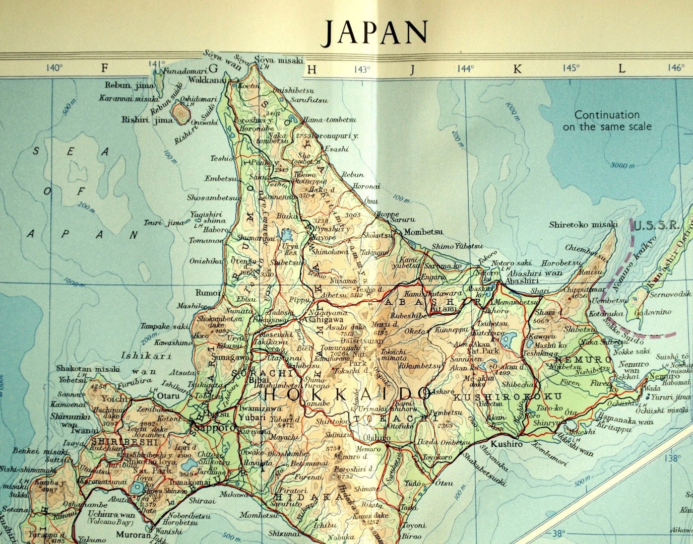 Vintage Map Of Japan Japan Vintage Map Insets Of - Japan map full