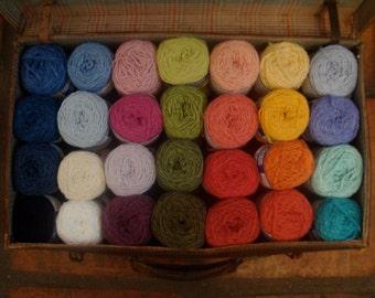 Organic cotton twisted with Bamboo Yarn - Vegan friendly - Single Skein