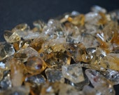 SALE - Fully Drilled AA Natural Untreated Genuine Brazilian Golden Yellow Citrine Tumbled Chips -7mm - 10mm - 60 pcs
