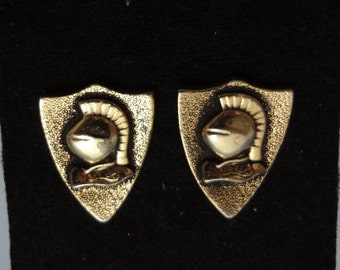 Vintage Cuff Links with Knights Head Design