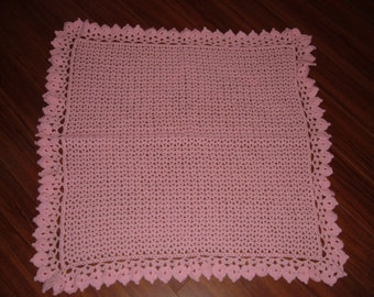 Crocheted Pink Baby Blanket