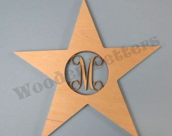 Star with Monogram Insert