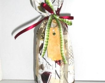 Pinot Noir Wine Bag, Wine Glasses, Pinot Grigio Wine Bag, Bottle Bag, Gift Bag