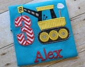 Custom crane birthday shirt. Personalized. Sizes 12m to boy's small. Other colors and sizes available.